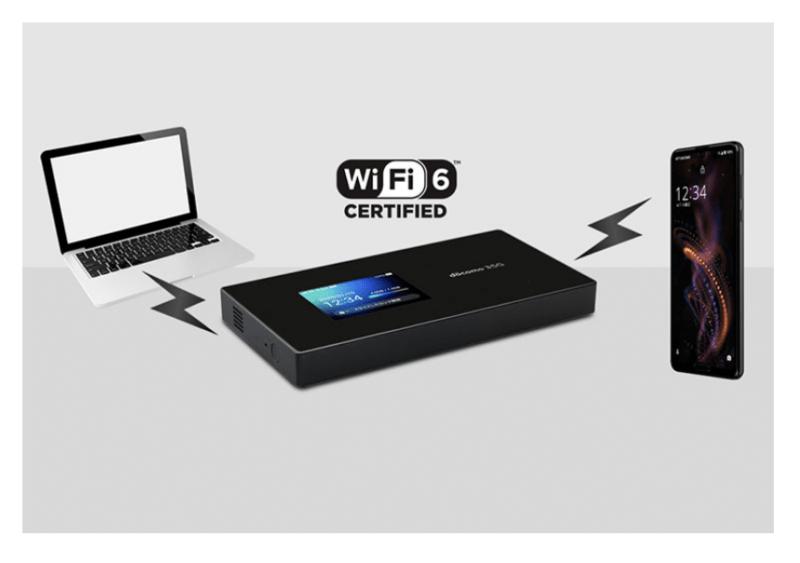 最新のWi-Fi通信規格(Wi-Fi6)11axに対応