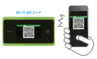 QRコードで簡単にネット接続可能