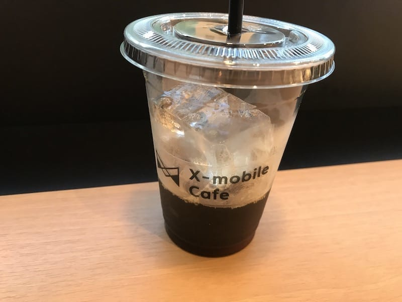 X-mobile Cafe shibuyaのコーヒー