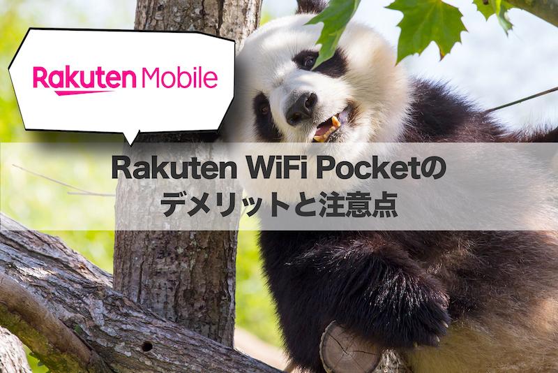 Rakuten WiFi Pocketのデメリットと注意点