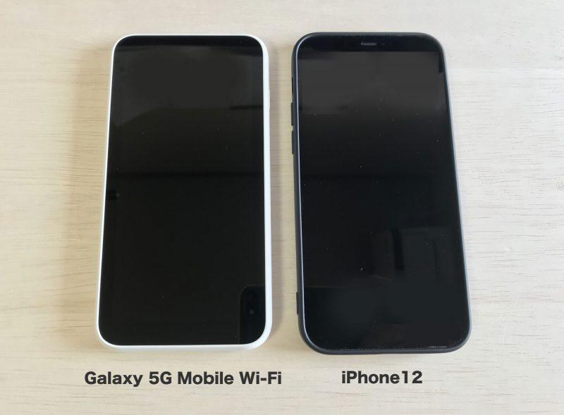 iPhone12との大きさ比較